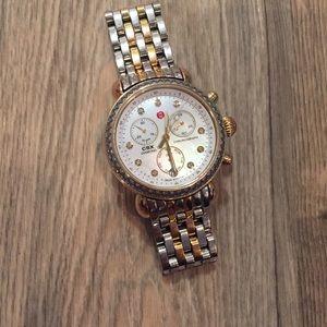 Michele two tone diamond csx watch